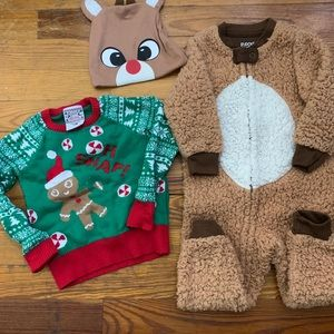 Other - Baby Fun Christmas Outfits 12-18 months